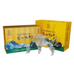 西藏特产 白酒 藏佳纯 青稞酒 52度雪山牦牛酒 浓香型 750mL 礼盒装
