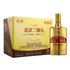 永丰 北京二锅头国际版大师酿清香型白酒 500ml金瓶45.8度9瓶装