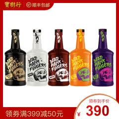 37.5°死侍手指加勒比(原味、咖啡味、椰子味、菠萝味、草本味)朗姆酒700ml*5