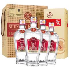 52°五粮液股份公司聖酒柔和浓香型白酒整箱装500ml*4