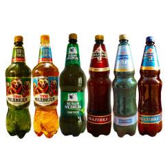 俄罗斯进口啤酒三只熊波罗的海酷乐远东烈性啤酒组合(6桶组合)