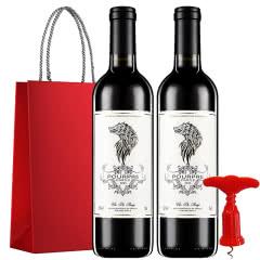 法国红酒(原瓶进口)泊美城堡赤霞珠橡木桶珍酿干红葡萄酒750ml*2瓶礼品礼袋套装