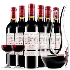 拉斐庄园2009珍酿原酒进口红酒珍藏干红葡萄酒红酒整箱醒酒器装 750ml*6