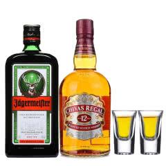 进口洋酒洋酒大礼包 野格酒野格利口酒力娇酒 芝华士12年苏格兰威士忌