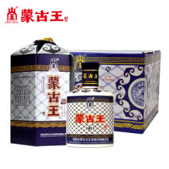 内蒙特产蒙古王38度蓝包蓝色故乡纯粮酿造浓香型白酒475ml 6瓶整箱