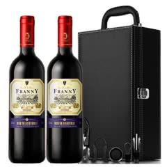 法国原瓶进口红酒侯爵干红葡萄酒750ml*2(礼盒装)