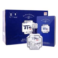 42°百年枝江 清坊500ml*4 礼盒整箱装 浓香型白酒