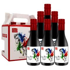 法国进口红酒小瓶装干红葡萄酒迷你小支装187ml*6瓶礼盒装