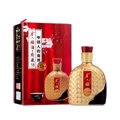 金六福52度浓香型白酒 礼盒装 高度白酒 粮食酒 府藏18 500ml单瓶