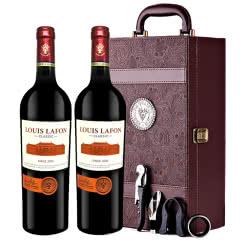 路易拉菲Louis Lafon原酒进口2009干红葡萄酒12度礼盒装750ml*2