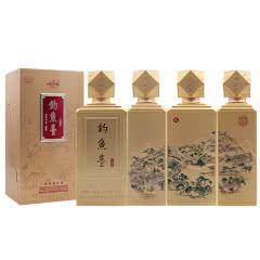 53°钓鱼台礼宾酒(泉)酱香型礼盒装500ml*4整箱装