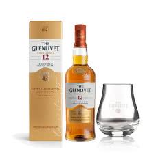 40°英国格兰威特单一麦芽苏格兰威士忌醇萃12年雪莉桶陈酿700ml+品牌定制酒杯