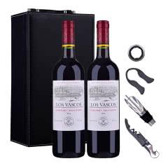 智利拉菲罗斯柴尔德巴斯克卡本妮苏维翁红葡萄酒750ml(又名:华诗歌)*2(双支皮盒套装)