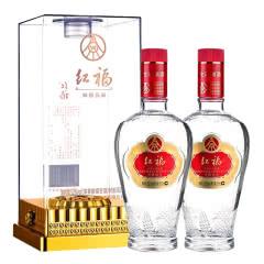 五粮液生态酿酒公司 红福精品 52度浓香型白酒500ml*2礼盒装
