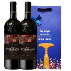 法国原酒进口赤霞珠干红葡萄酒恒大鼎世干红葡萄酒  下单送礼品袋+开瓶器 750ml*2