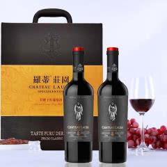 法国原瓶进口罗蒂庄园 特使干红葡萄酒750ml*2原装礼盒 重瓶