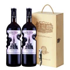 法国进口红酒拿尊古堡珍藏干红葡萄酒红酒2支礼盒装750ml*2
