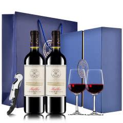 【DBR拉菲】拉菲红酒凯洛马尔贝克干红葡萄酒红酒礼盒装750ml*2
