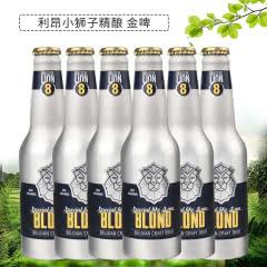 比利时原瓶进口 LION利昂小狮子金啤(8号)精酿啤酒 铝罐装 330ml*6瓶