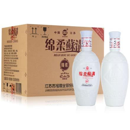 52°绵柔苏沟浓香型陈年白瓷瓶老酒480ml*6瓶整箱装(2019年)