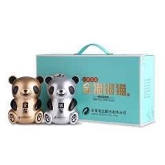 52°舍得酒业股份舍得礼盒熊猫酒 金猫银猫酒 浓香型白酒500ml(2瓶礼盒装)