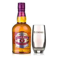 40°英国芝华士12年苏格兰威士忌500ml+高杯