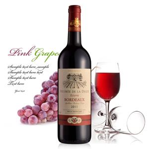 法国维康德干红葡萄酒750ml