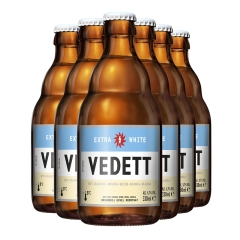 比利时进口白熊白啤酒(VEDETT)330ml*6