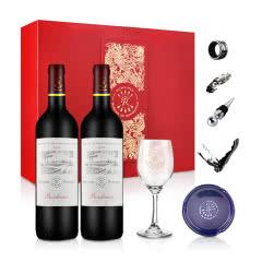 法国拉菲罗斯柴尔德尚品干红葡萄酒豪华双支礼盒750ml(ASC正品行货定制版)