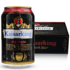 德国工艺精酿 凯撒王啤酒 黑啤 整箱啤酒饮料 330ml*24听整箱