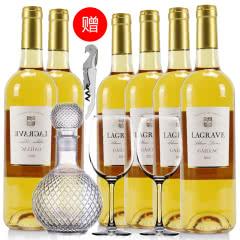 法国红酒整箱法国(原瓶进口)葛拉芙特酿甜白葡萄酒750ml*6支装