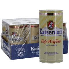 德国啤酒4.7°凯撒白啤Kaiserdom白啤1000ml*12整箱价