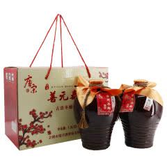 绍兴黄酒12°唐宋五年善元泰雕 1.5L*2坛 礼盒 半甜型