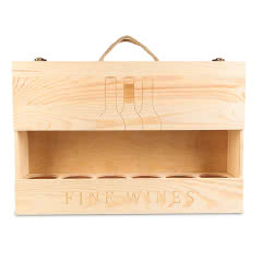 红酒礼盒 红酒包装盒750ml六支装松木箱礼盒  通用款 不含酒
