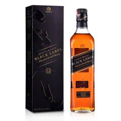 40°英国尊尼获加黑方威士忌700ml