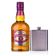 40°英国芝华士12年苏格兰威士忌500ml+芝华士扁型酒壶
