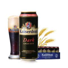 德国原装进口Kaiserdom黑啤酒500ml*24听装