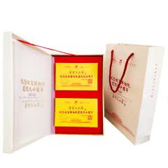 云南普洱茶砖茶 纪念故宫博物院建院90周年普洱江山茶熟茶叶500g礼盒装