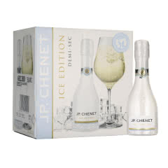法国进口 香奈J.P. CHENET冰爽高起泡酒白葡萄酒200ml*6整箱装