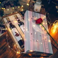 慕拉(MOULA)可可之吻巧克力微醺晚安酒红酒礼盒甜型葡萄酒双支礼盒装375ml*2