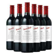 澳大利亚原瓶进口红酒纳谷奔富赤霞珠纳谷407干红葡萄酒750ml*6