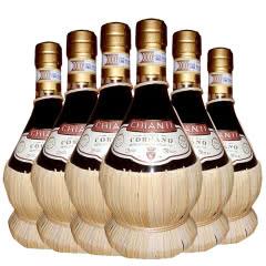 意大利原瓶进口红酒DOCG级卡斯特拉尼基安蒂 康帝干红葡萄酒特色草编750ml(6瓶整箱)