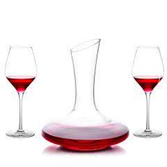 红酒醒酒器套装 礼盒装(1醒酒器+2支酒杯)