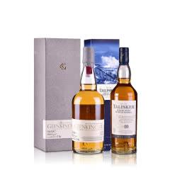 英国泰斯卡10年+格兰昆奇12年单一麦芽威士忌套装200ml(2瓶组合装)