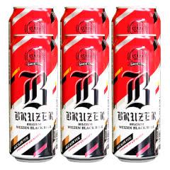 比利时原装进口啤酒巴利特黑啤酒500ml*6听装
