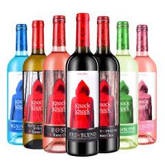 西班牙奥兰小红帽(干红+干白+桃红+半甜红+)+奥太狼(谜蓝配置酒+桃红+干白)7瓶家族套装