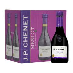 法国进口香奈 梅鹿辄红葡萄酒 13.5度187ml*6整箱装