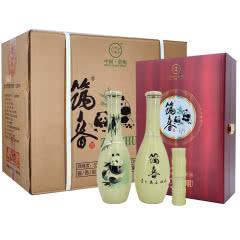 筑春53度 筑春酒 复古版国宝熊猫图案 250mlx8瓶 酱香型 2020年