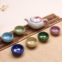 陶瓷茶具套装七件套 泡茶壶茶杯精品茶具 送礼高档礼盒装茶具套装