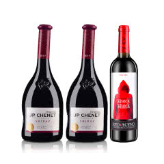 法国红酒法国酒庄香奈西拉干红葡萄酒750ml*2+西班牙奥兰小红帽干红葡萄酒750ml